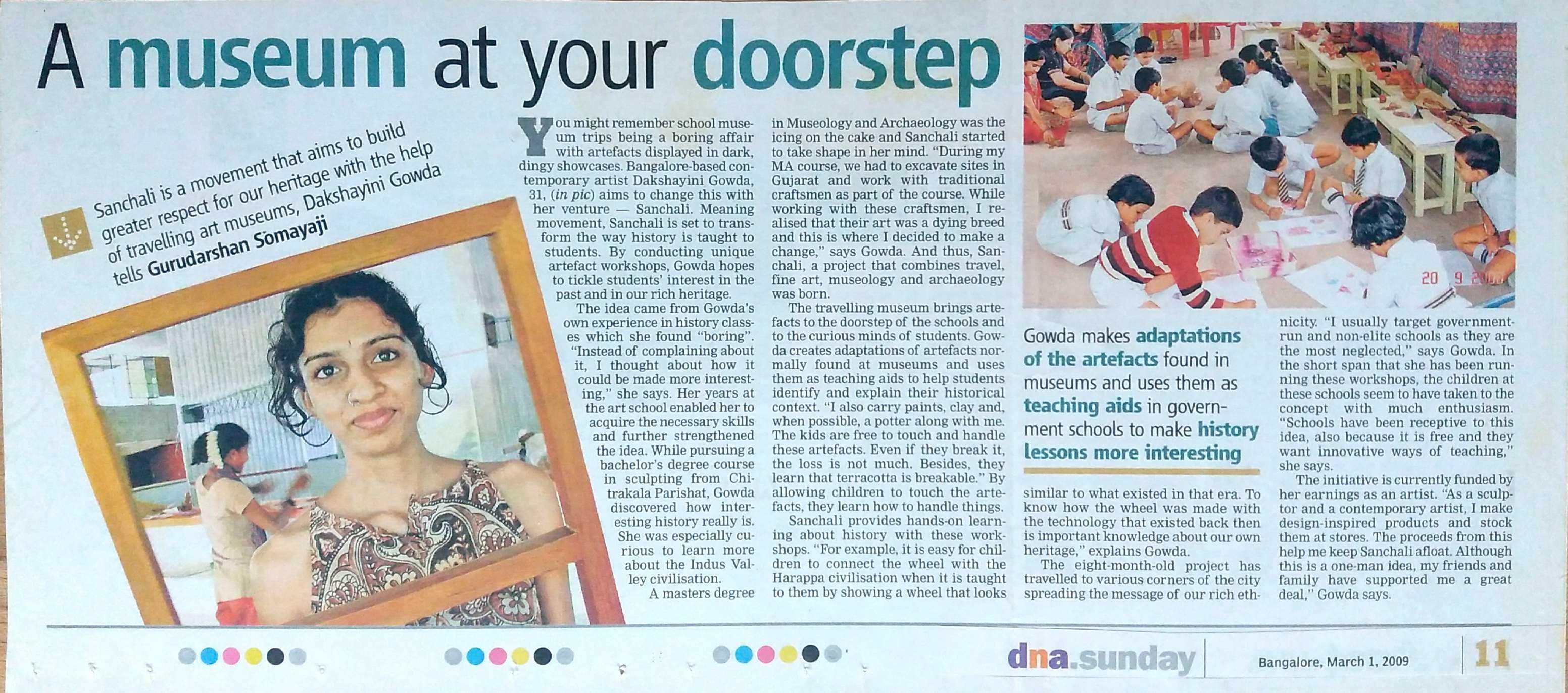 DNA SUNDAY Newspaper, 2009